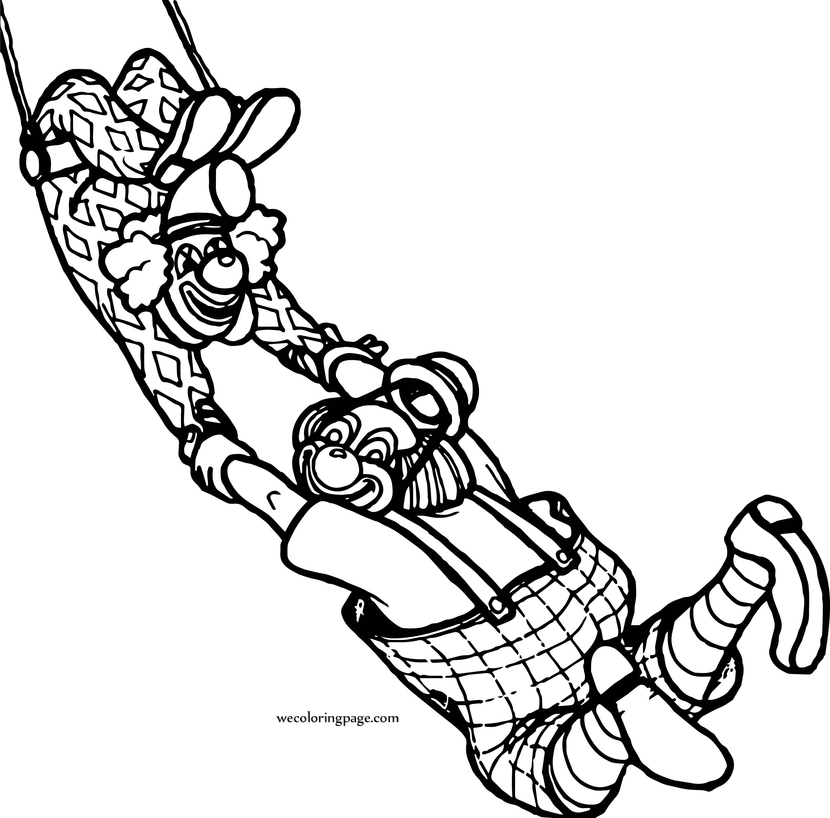 Clowns Circus Animals Coloring Page | Wecoloringpage.com