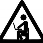 Computer Engineer Black Sign Coloring Page