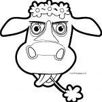 Cow Cartoon Coloring Page