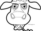 Cow Cartoon Coloring Page