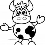 Cow Cartoon Cute Free Download Coloring Page