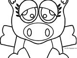 Cow Front View Coloring Page