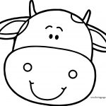 Cow Head Face Coloring Page