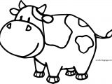 Cow Stop Coloring Page