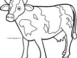 Cow Waiting Coloring Page
