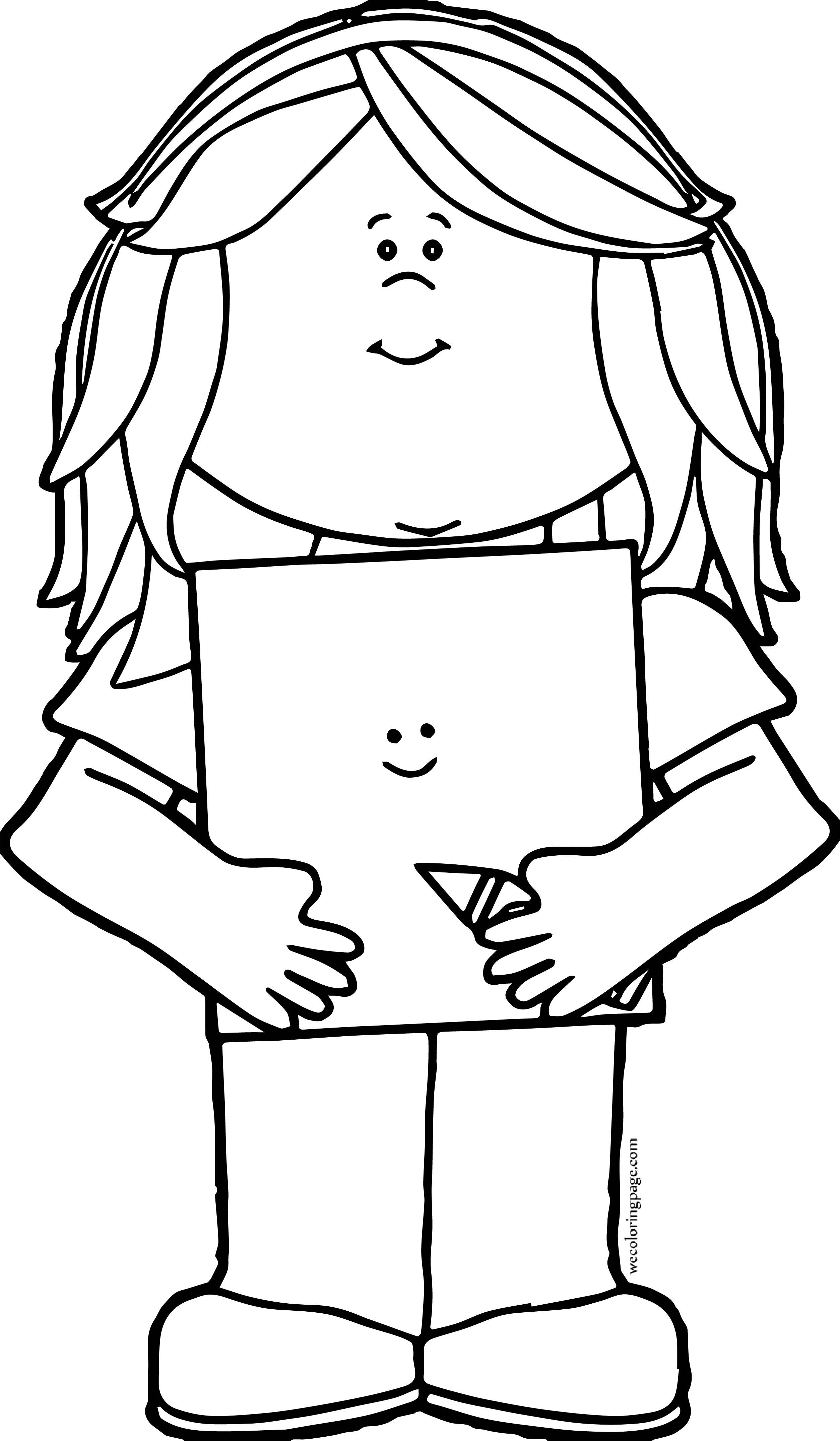 Crayon Girl Coloring Page