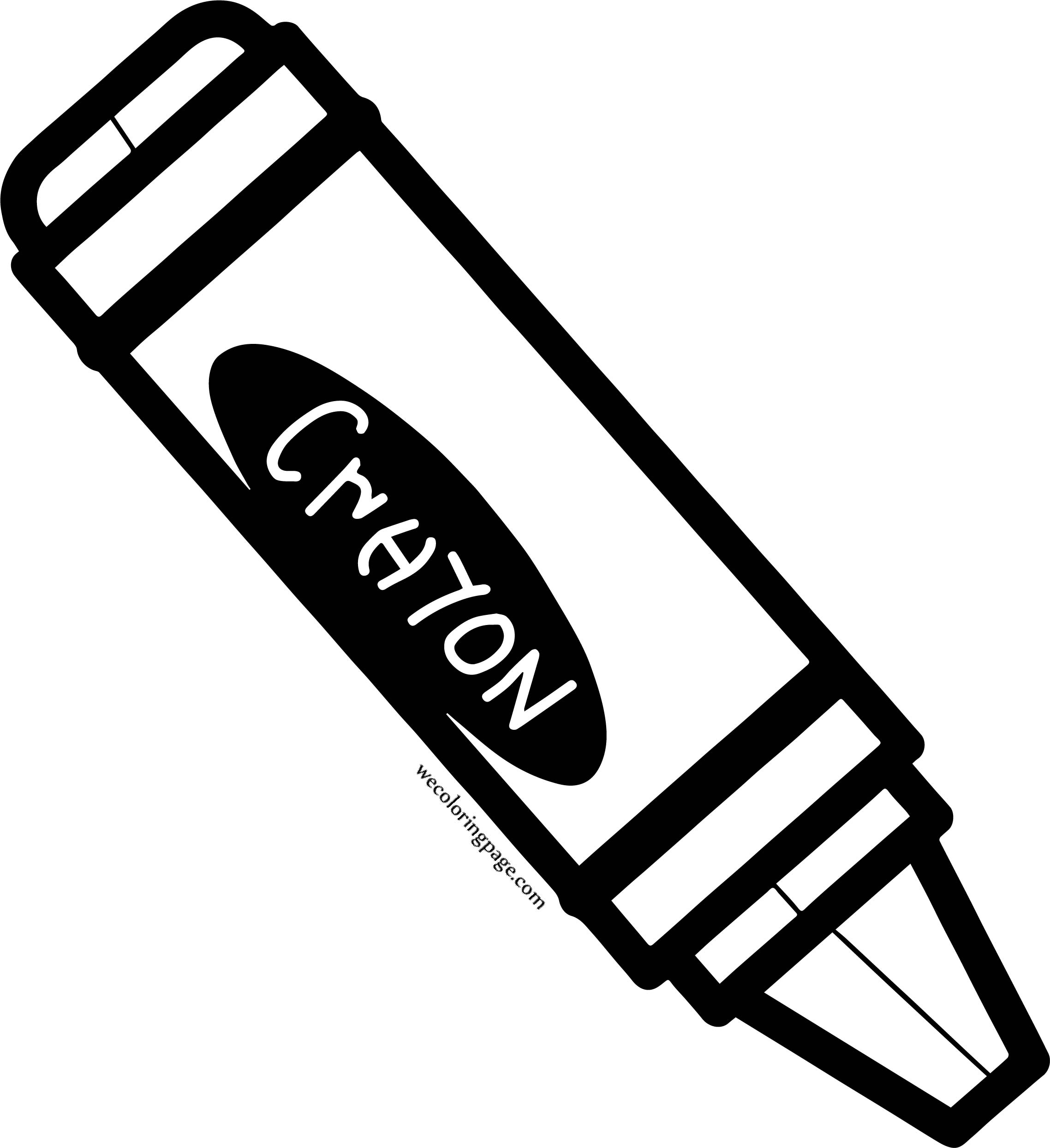 Crayon Painting Time Coloring Page
