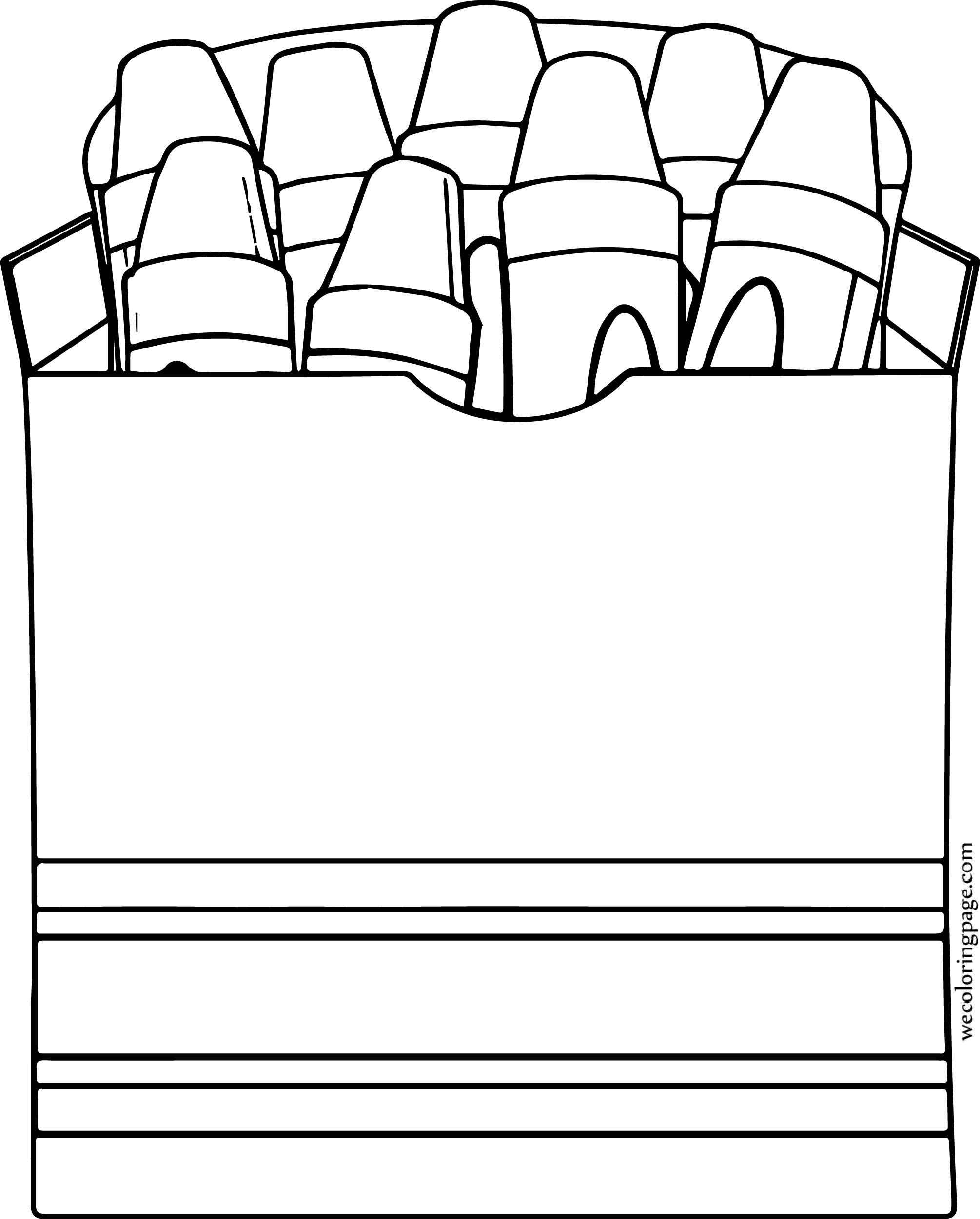 Crayon Pen Box Coloring Page