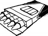 Crayon Pen Box Sketch Coloring Page