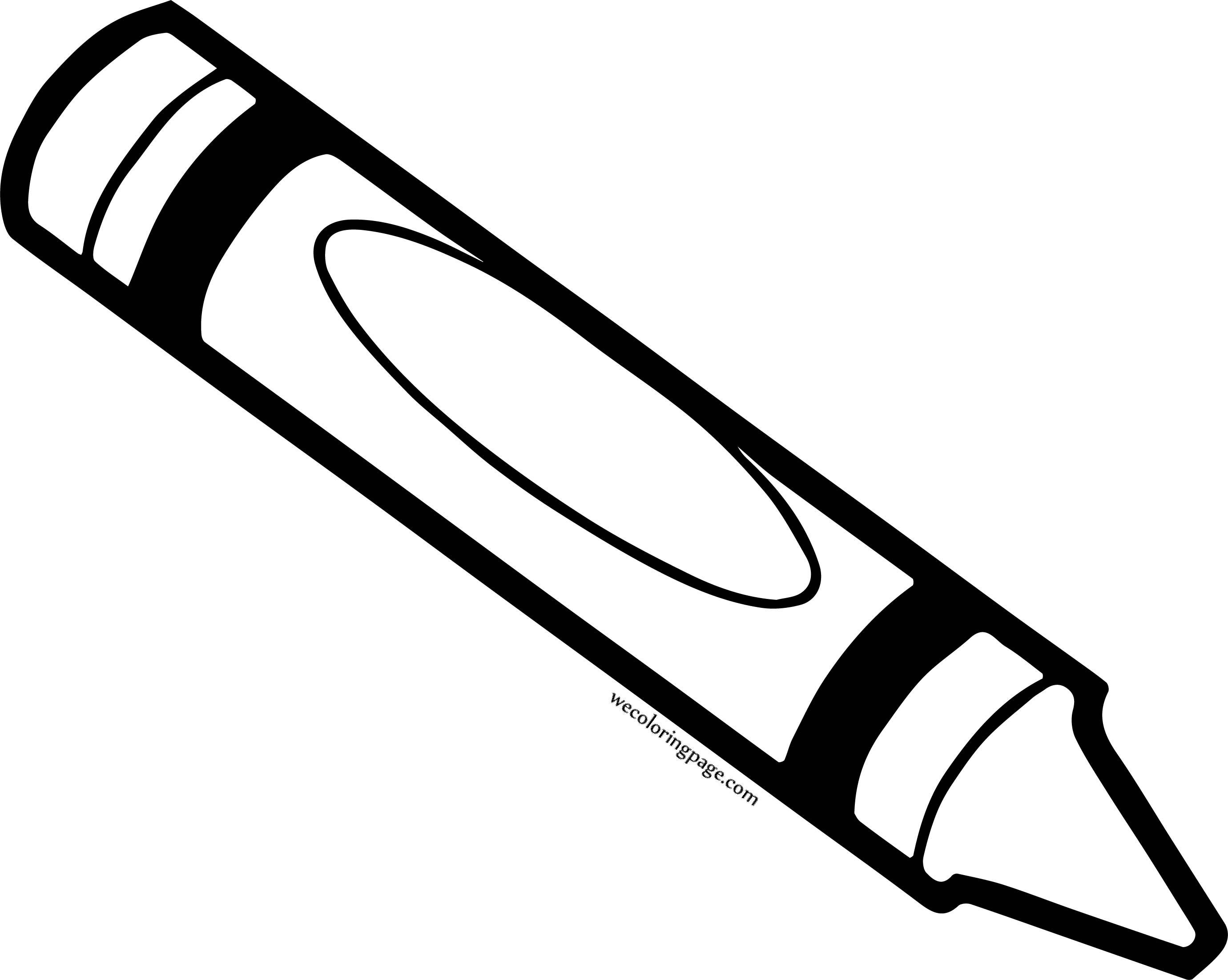 Crayon Pen Coloring Pages