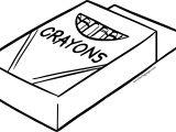 Crayon Pen In Box Coloring Page