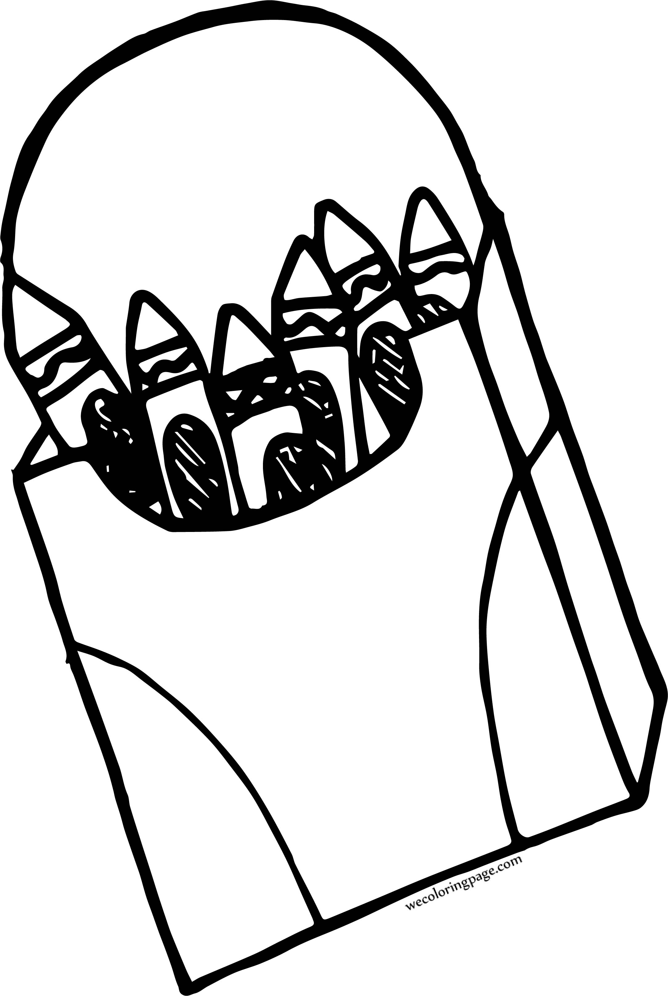 Crayon Pen Opened Box Coloring Page