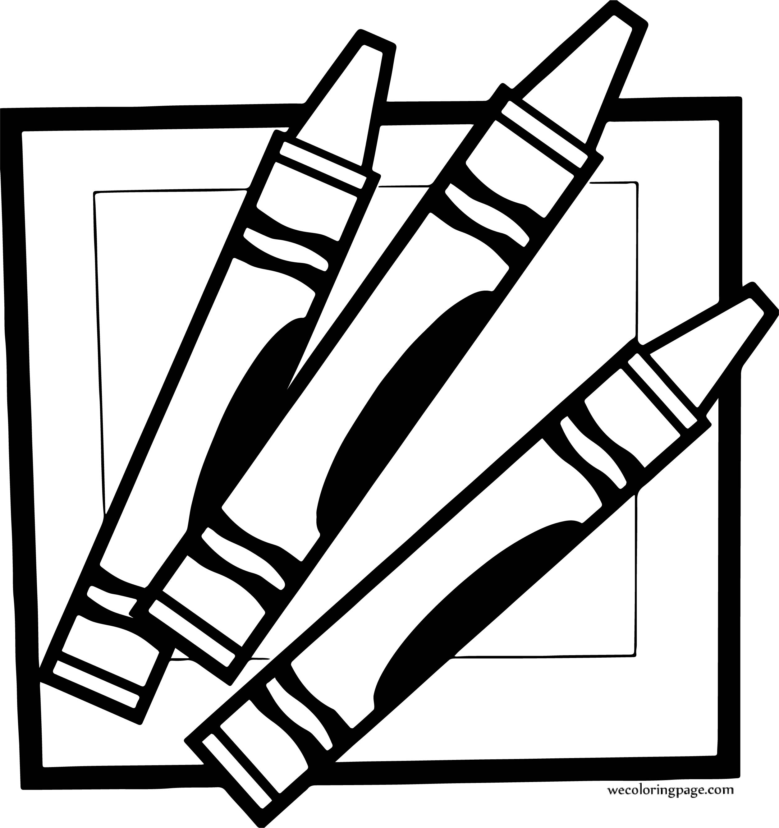Crayon Pen Picture Border Coloring Page