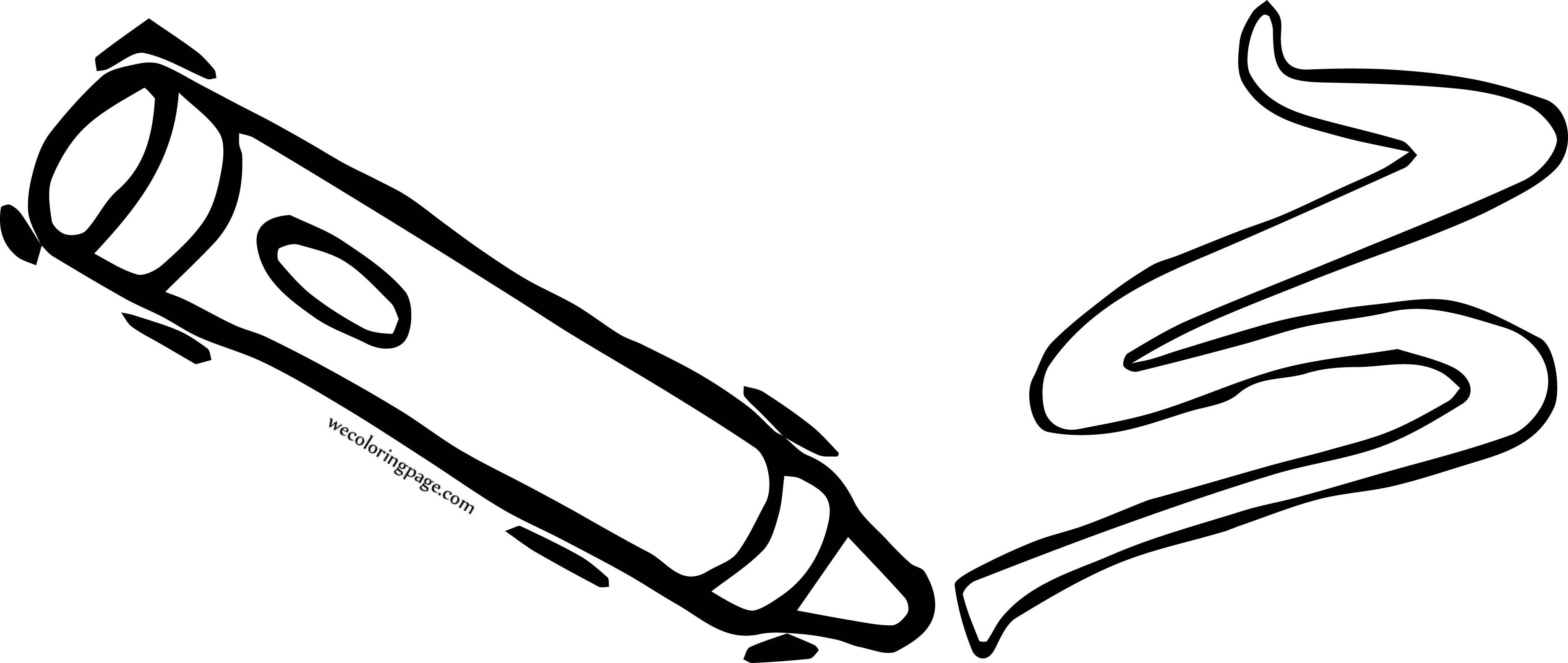 Crayon Pen Write Coloring Page