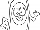 Crazy Cartoon Crayon Pen Coloring Page