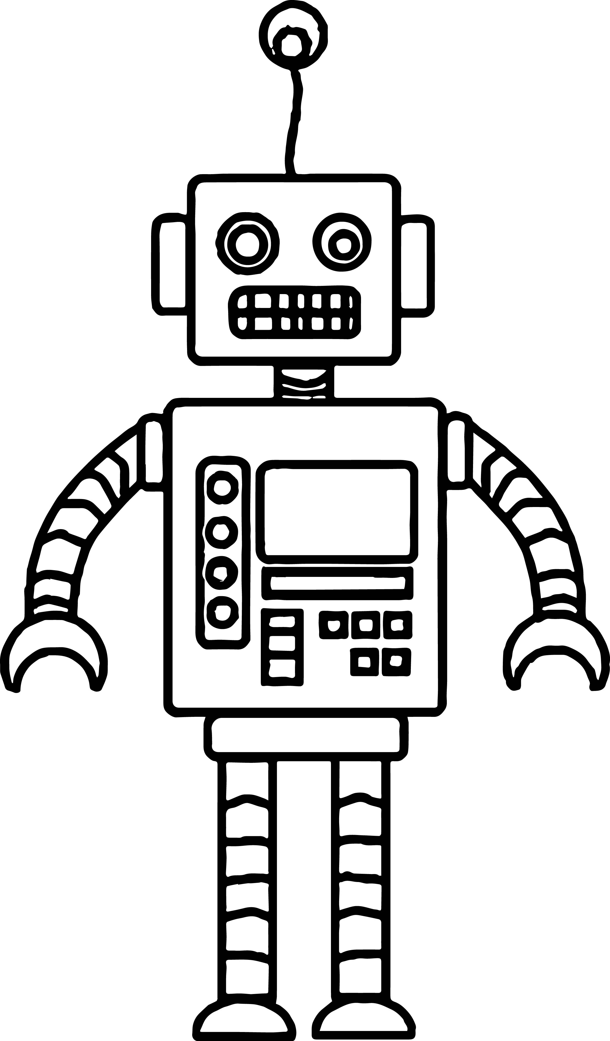 Crazy Robot Coloring Page