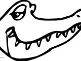 Crocodile Alligator Good Face Coloring Page