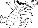 Crocodile Alligator Joy Coloring Page