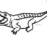 Crocodile Alligator Open Mouth Coloring Page