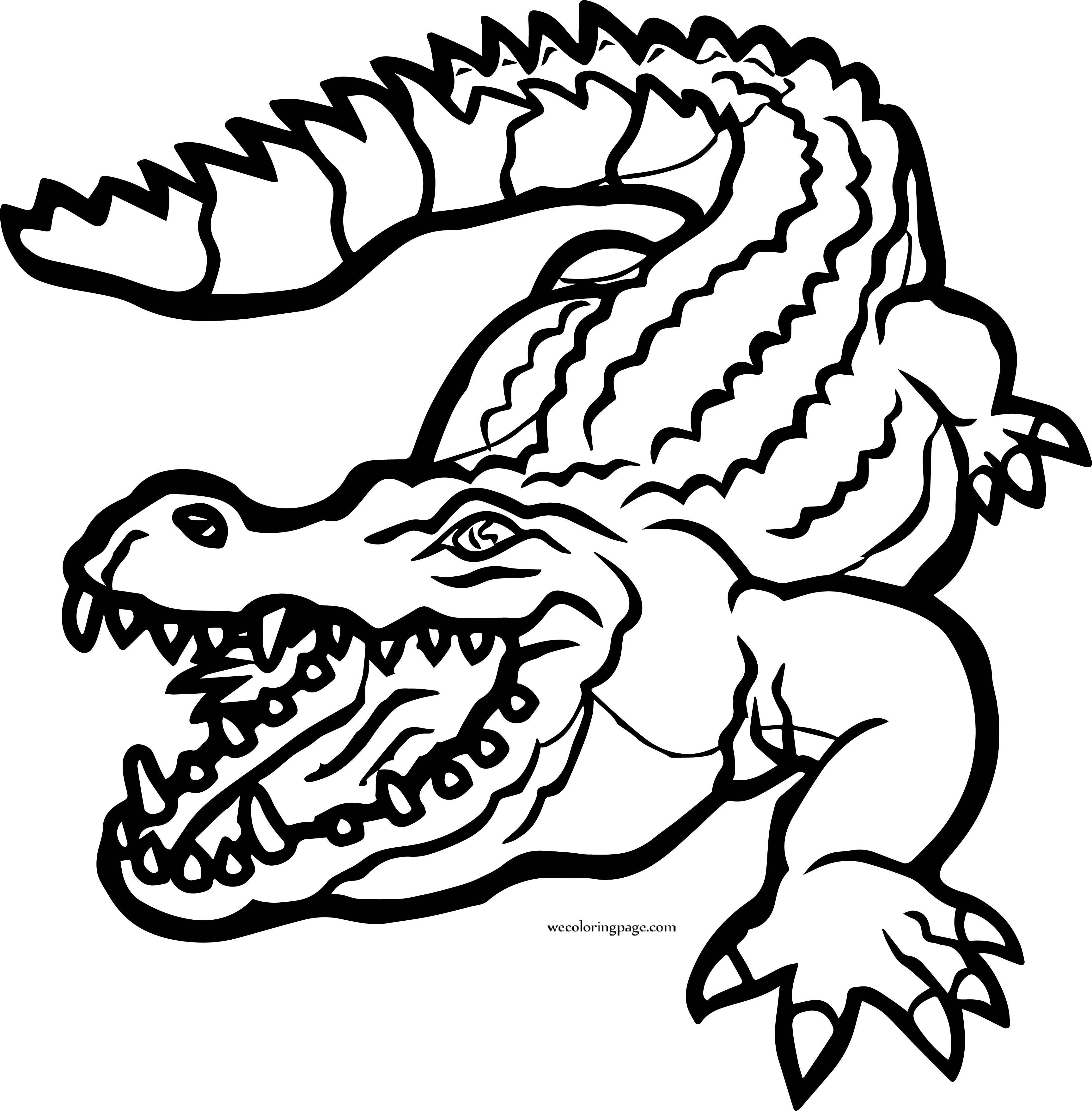 Crocodile Alligator Wild Coloring Page