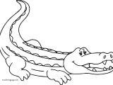 Crocodile Alligator Woman Coloring Page