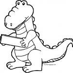 Crocodile Alligator Wood Coloring Page