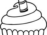 Cupcake Candle Cake We Coloring Page