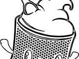 Cupcake Character Designs Coloring Page