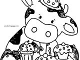 Cupcake Cow Coloring Page
