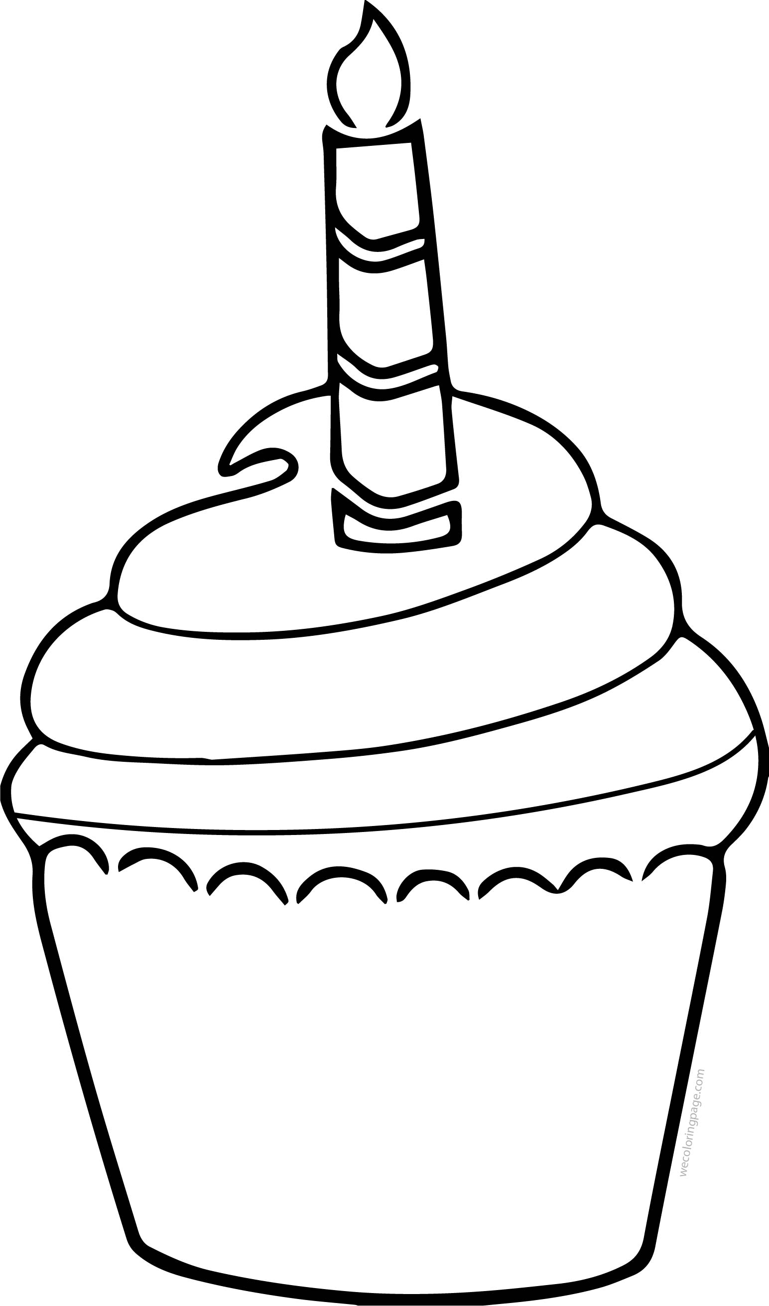 Cupcake Cup Cake Crema Coloring Page