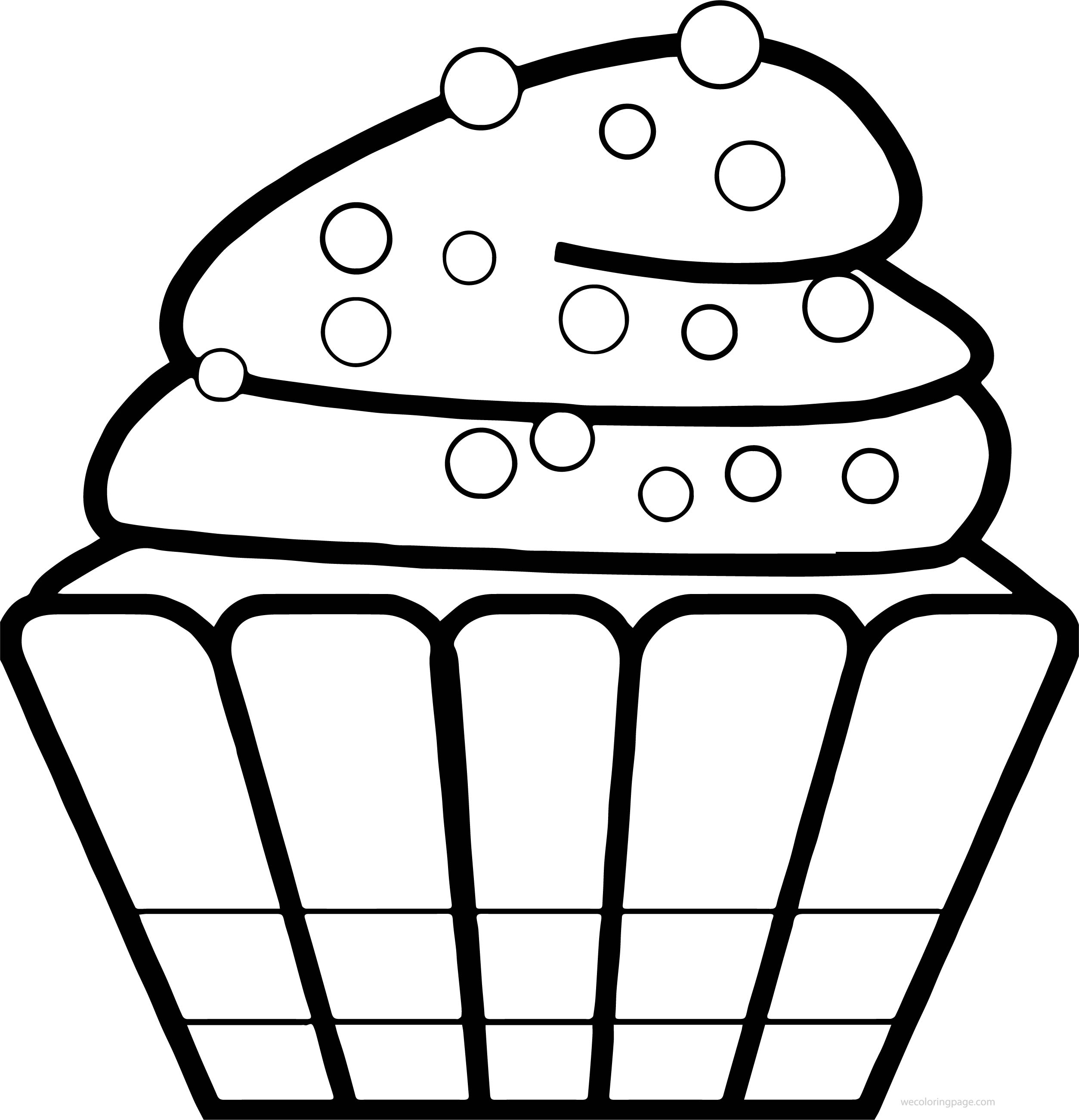 Cupcake Cup Cake Dot Coloring Page