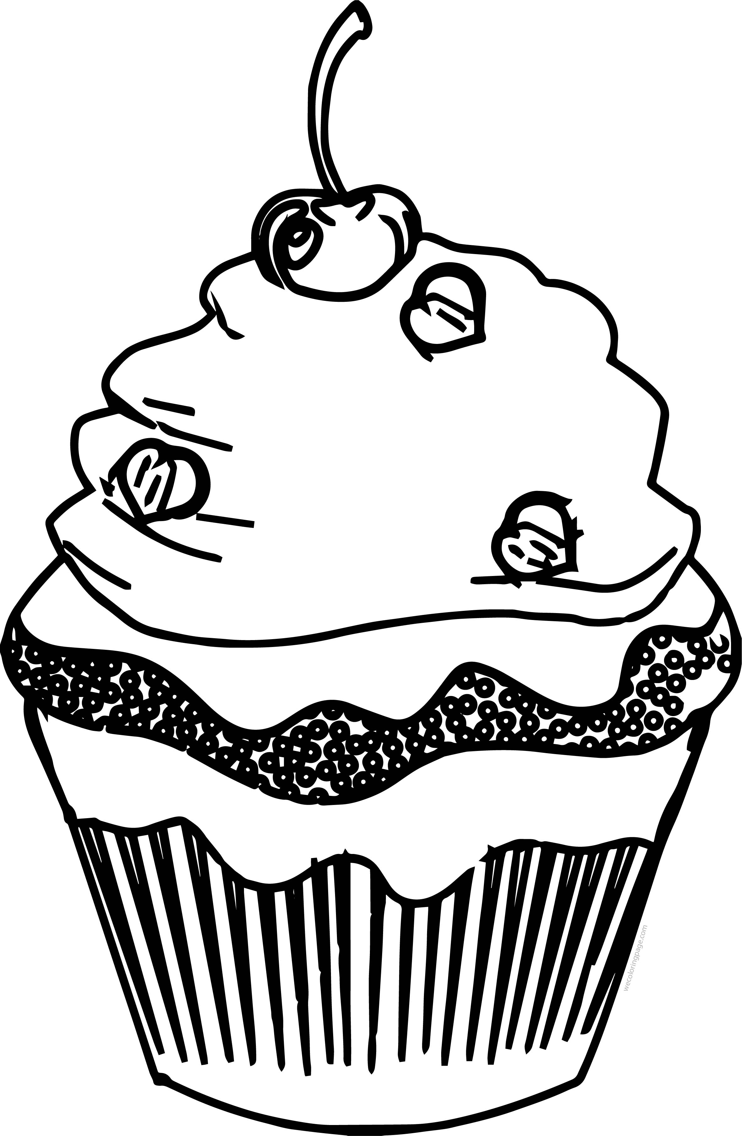 Cupcake Cup Cake Good Coloring Page | Wecoloringpage.com