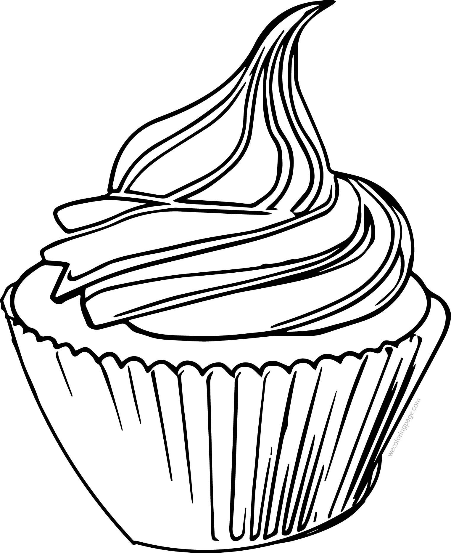 Cupcake Cup Cake We Line Coloring Page