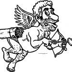 Cupido Churl Man Coloring Page