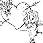 Cupido Rose Boy Coloring Page