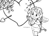 Cupido Rose Boy Coloring Page