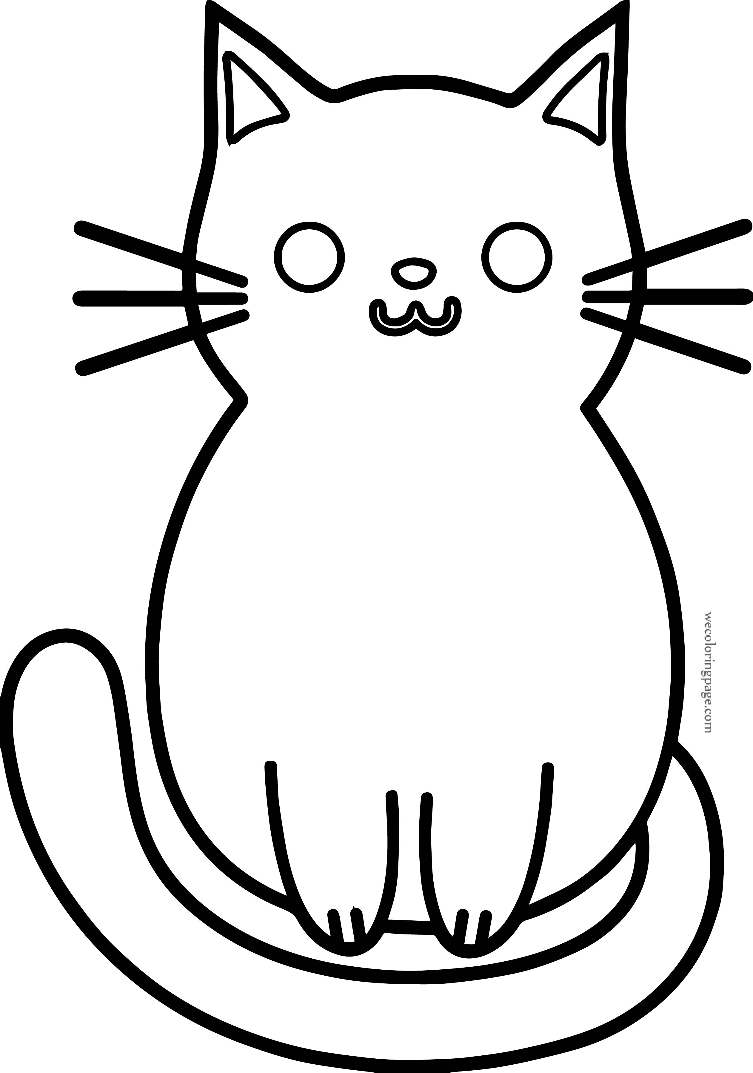 Cute Boy Cat Coloring Page