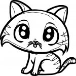 Cute Small Cat Coloring Page