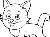 Cute Smile Cat Coloring Page