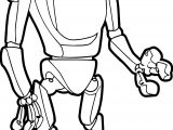 Cyborg Robot Coloring Page