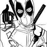 Deadpool Alright Coloring Page