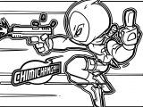 Deadpool Chimichanga Coloring Page