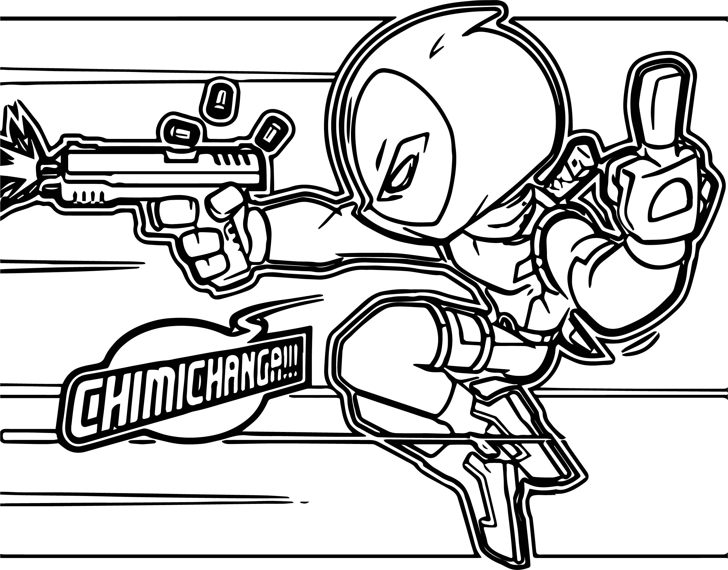 Deadpool Chimichanga Coloring Page