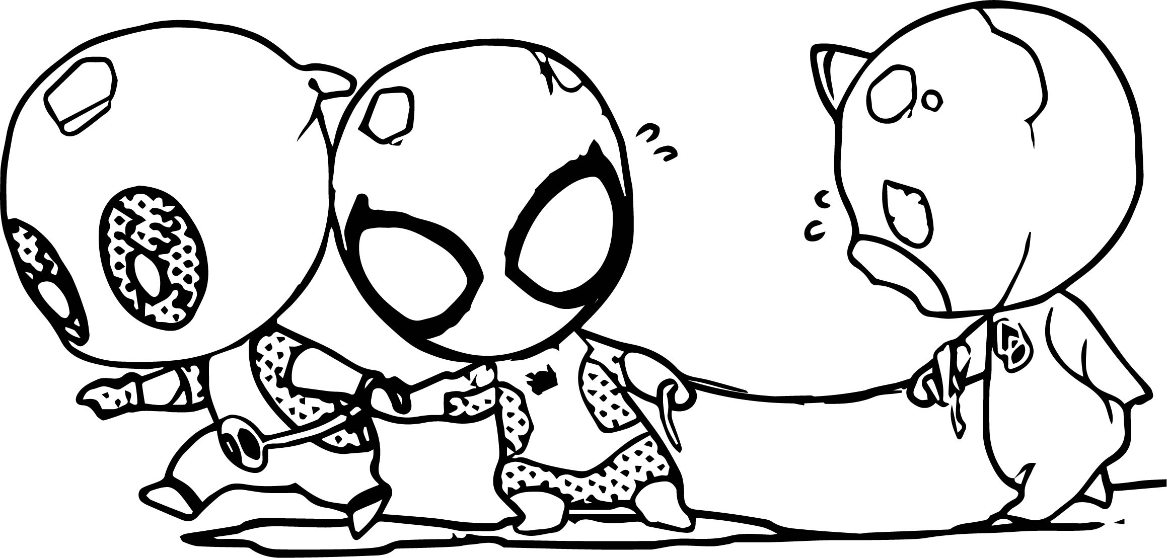 Deadpool Come Coloring Page