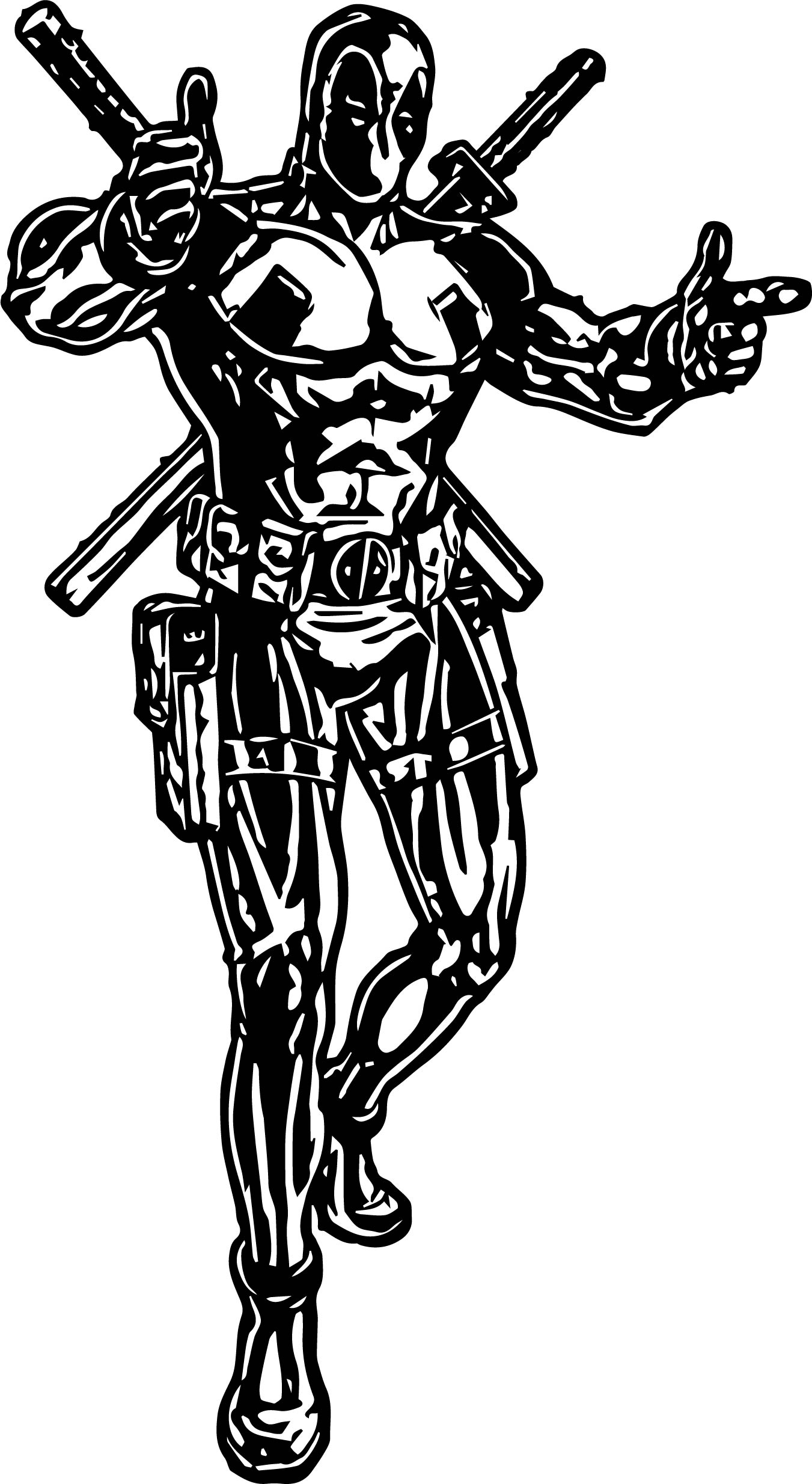 Deadpool This Coloring Page