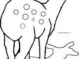 Deer Shadow Coloring Page