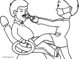 Dental Doctor Hard Tooth Coloring Page