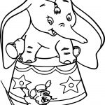 Disney Dumbo And Mouse Coloring Page