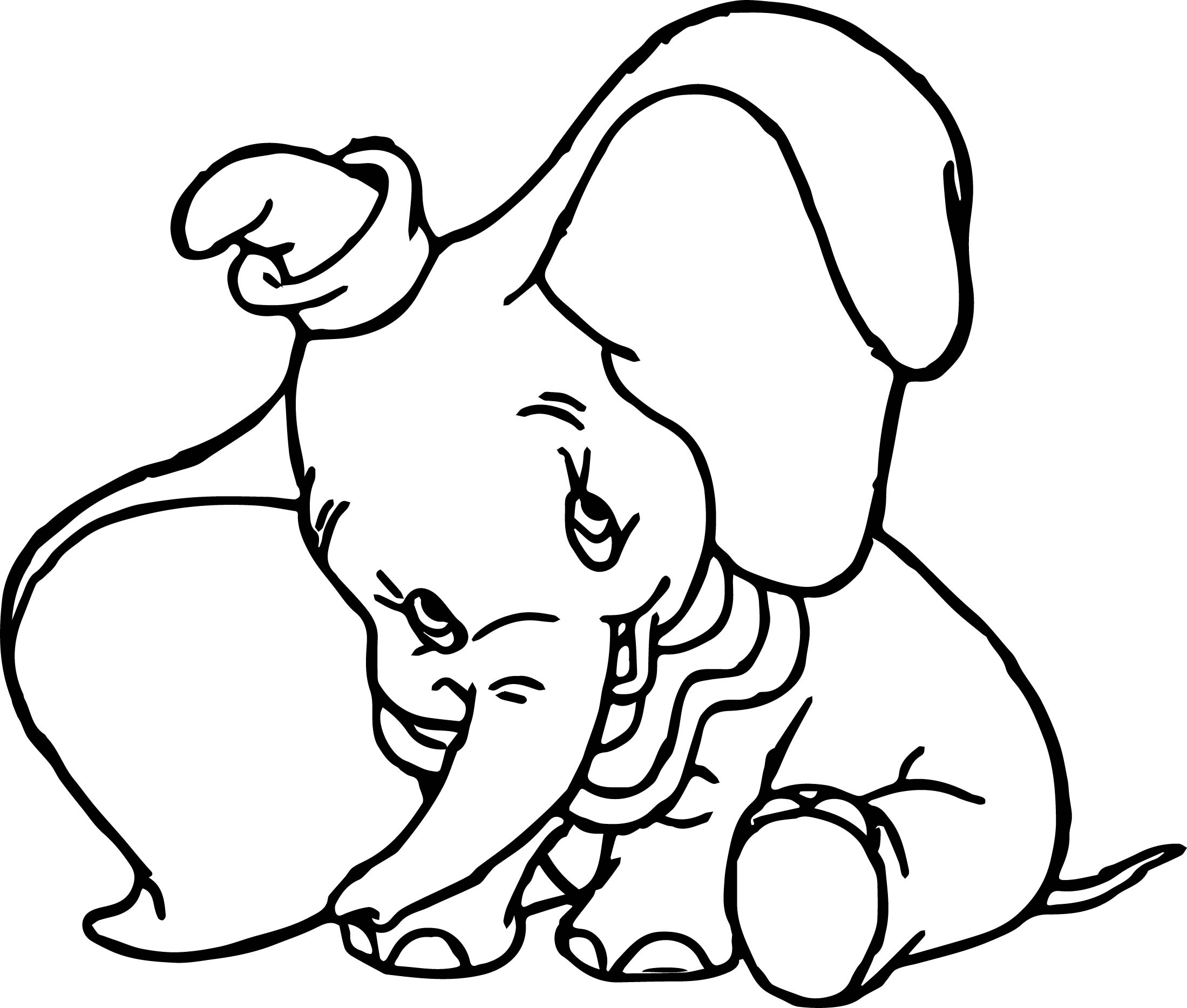 Disney Dumbo Cute Coloring Pages