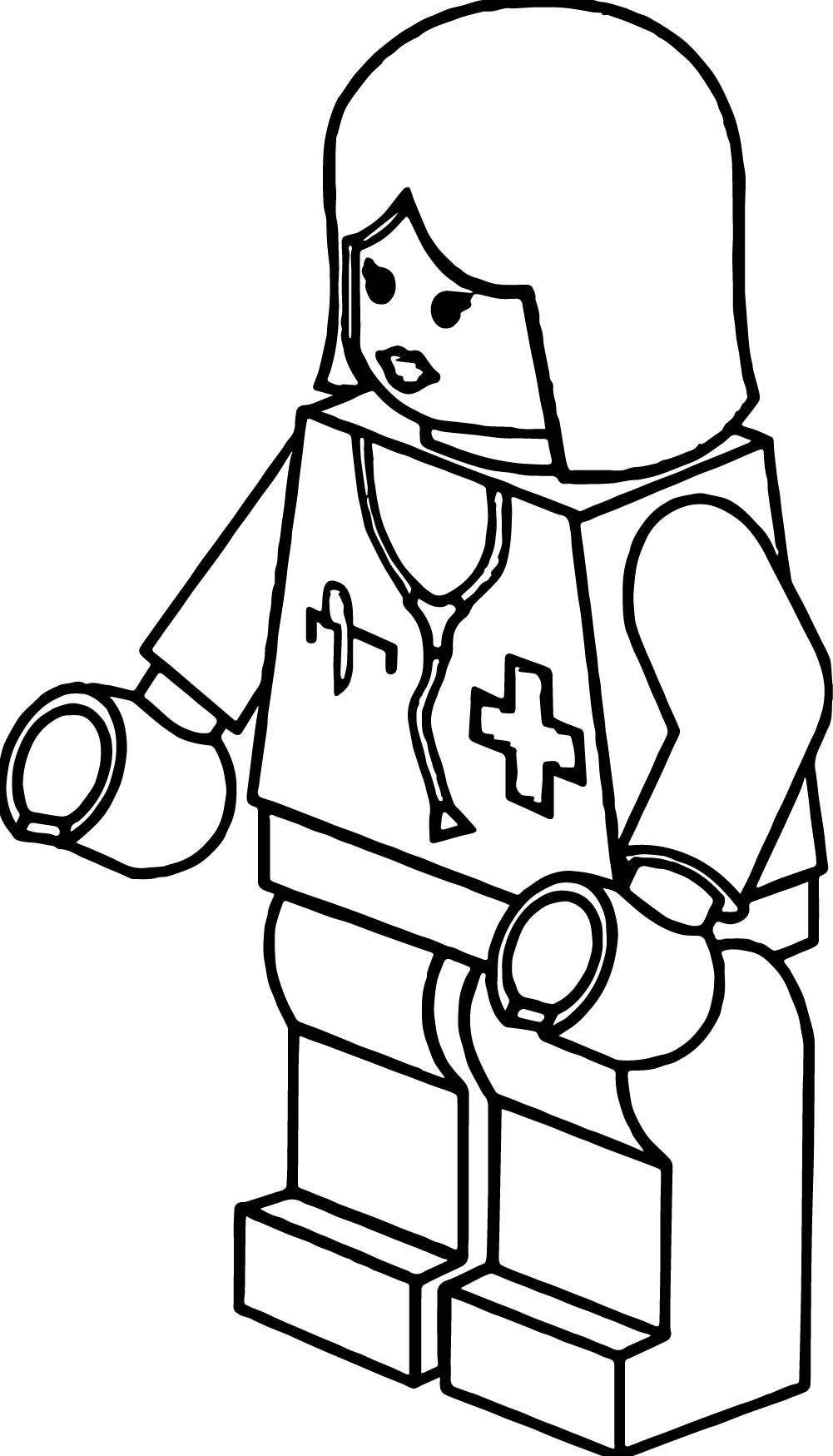Doctor Lego Girl Robot Coloring Page | Wecoloringpage.com